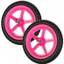 Цветные колеса Strider (пара) розовые