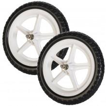 Цветные колеса Strider (пара) белые