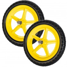 Цветные колеса Strider (пара) желтые