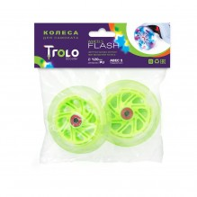 Светящиеся колеса для самоката Maxi зеленые