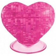 3D головоломка Сердце розовое