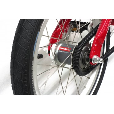 KOKUA LIKEtoBIKE-16 SRAM Automatix V-Brakes красный
