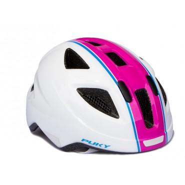 Шлем Puky M (51-56) белый/розовый