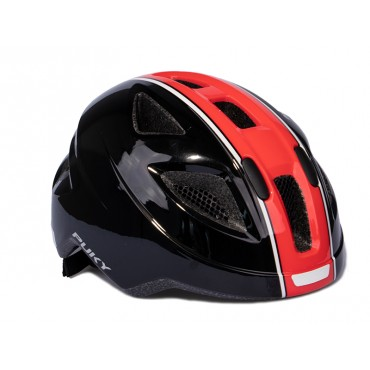 Шлем Puky M (51-56) черный/красный