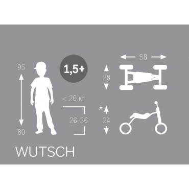Puky Wutsch красный