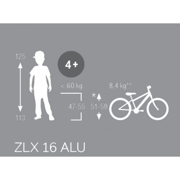 Puky ZLX16-1 черный