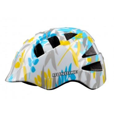Шлем RunBike Action pro бело-голубой