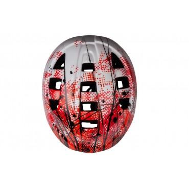 Шлем RunBike красно-белый
