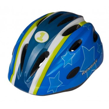 Шлем RunBike сине-зеленый