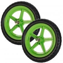 Цветные колеса Strider (пара) зеленые