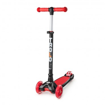 Trolo Maxi черно-красный со светящимися колесами