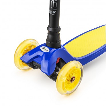 Trolo Maxi сине-желтый со светящимися колесами