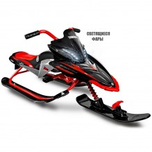 Yamaha Apex SNOW BIKE Titanium with LED красный
